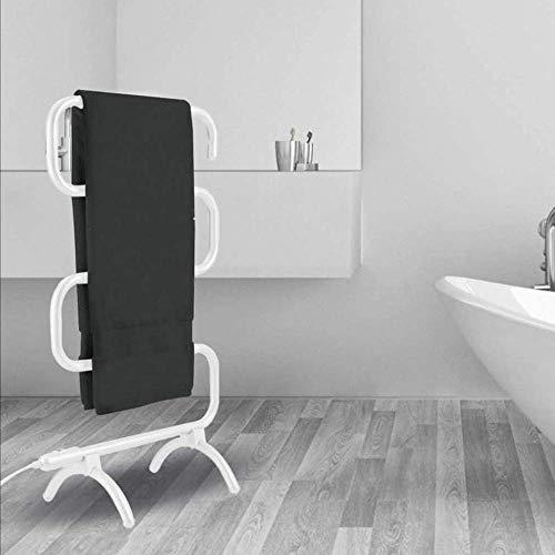 YXYY Toallero de pie, radiador de Toalla con calefacción Temporizador Incorporado Interruptor de un Toque Fácil de Mover a casa Toallero de Secado Blanco