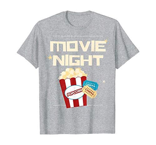hyjhytj T Shirt Gift Movie Night Pop Corn Tickets Cinema Coming Soon