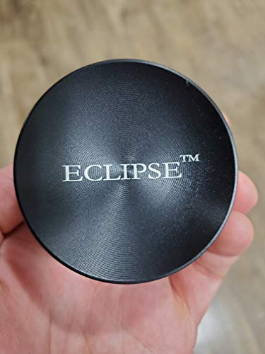 Eclipse 3 Stage 2.5 inch Concave top Sharp Herb Grinder with Pollen Collector (Black)
