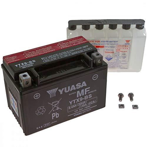 Yuasa AGM Batterie ZX-9R 900 C Ninja 1998-1999 YTX9-BS