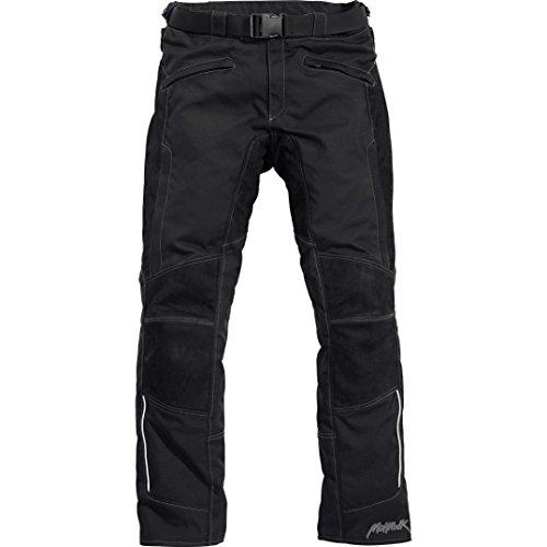 Mohawk Motorradhose Touren Leder-/Textilhose 2.0, wasserdicht, Winddicht, atmungsaktiv, herausnehmbares Thermosteppfutter, Bundweitverstellung, Schwarz, S