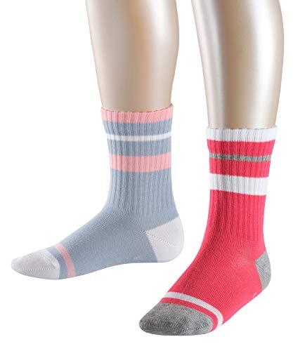 ESPRIT Kinder Socken Tennis - 91prozent Baumwolle , 2 Paar, Violett (Sky Blue/Pink/Red 70), Größe: 27-30