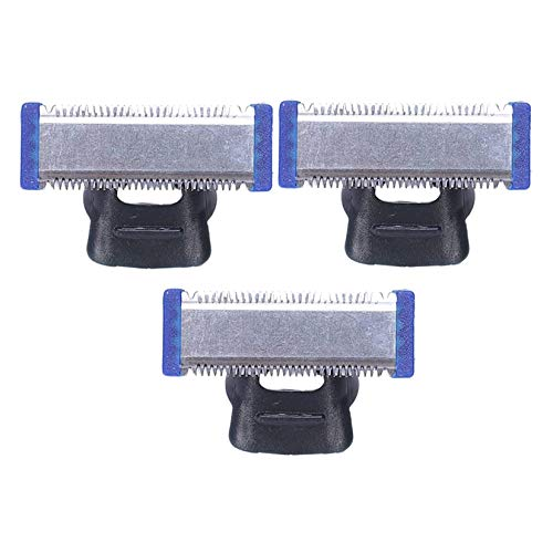 Camisin 3 PCS Replacement Trimmer Blade for Micro-TOUCH SOLO Electric Shaver Cleaning Cutter Head