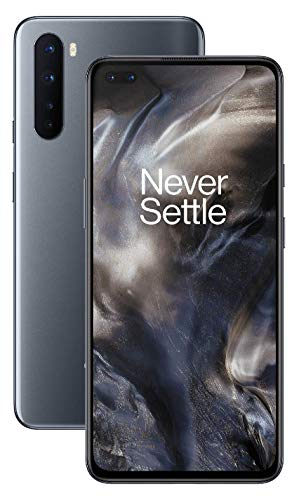 "OnePlus NORD (5G) Smartphone 6.44"" Fluid AMOLED Display 90Hz, 8GB RAM + 128GB Storage, Quad Camera, Warp Charge 30T, Dual Sim, 5G, Onyx Grey"