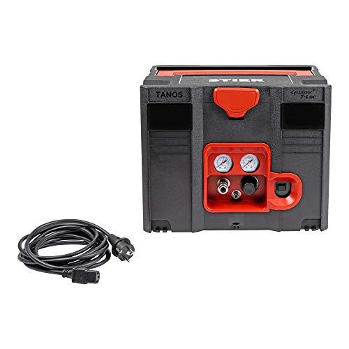 STIER Systainer Kompressor SKT 160-8-6, ölfrei, 1.100 W Motorleistung, SysMaster kombinierbar mit anderen Systainern, Druckluft, Mobiler Kompressor - 5