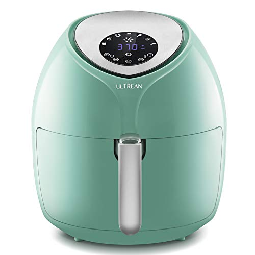 Ultrean 8.5 Quart Air Fryer, Electric Hot Air Fryers XL Oven Oilless Cooker with 7 Presets, LCD Digital Touch Screen and Nonstick Detachable Basket, ETL/UL Certified,18 Month Warranty,1700W (blue)