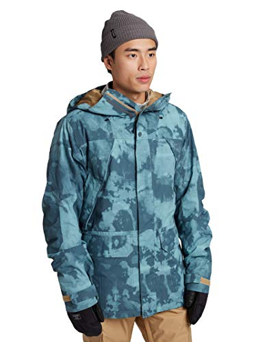 Burton Mens Breach Jacket, Dark Slate Resist Dye, X-Small