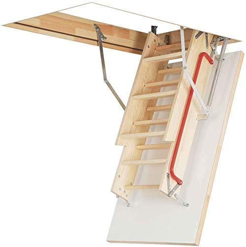 Madera plegable ático puerta puerta puerta y marco, piso a techo, escaleras de canal de clip de gran altura/escaleras,Wood