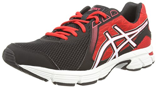 ASICS Gel-Impression 8 - Zapatillas de running para hombre, color negro (black/white/fiery red 9001), talla 46.5