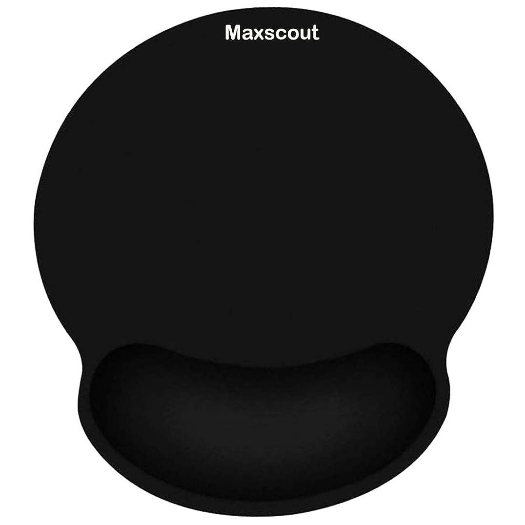 タービン液体テクスチャーMaxscout 手首クッションマウスマット、低反発スポンジ人間工学的リストレストマウスパット パソコンやノートパソコン、ゲームオフィスの仕事に活躍 手首の疲労や痛みを解消できる