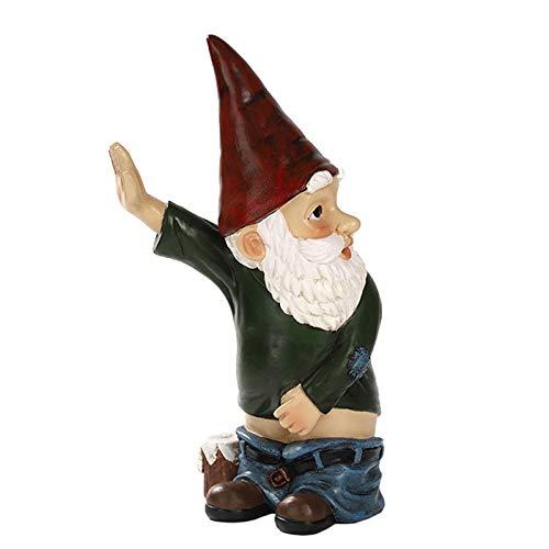 MHMT Orinar GNOME Estatua,Resina Travieso Jardín GNOME para Césped Ornamento,Interior Aire Libre Decoración Divertido GNOME-Color 10.2inch