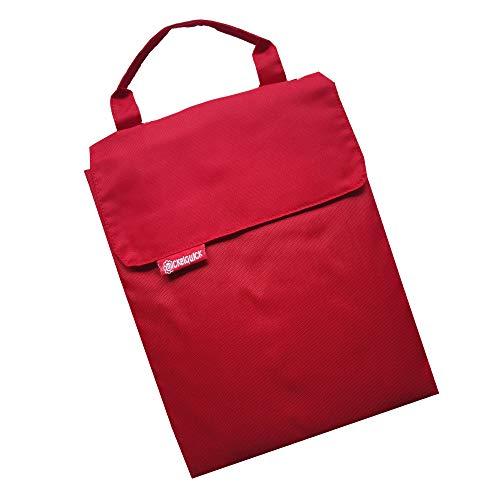Tragbare Wickelunterlage für unterwegs Wickelquick®/mit einer Hand bedienbar/sicher durch Abrollschutz/4 Seitentaschen/abwaschbar/rot