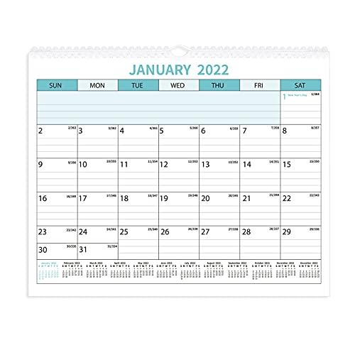 TomaiBaby Calendario de Pared 2022-2023 Calendario de 24 Meses Que Cuelga en La Pared Calendario Diario Planificador Organizador Programador para Decoraciones de Oficina en Casa Regalo de