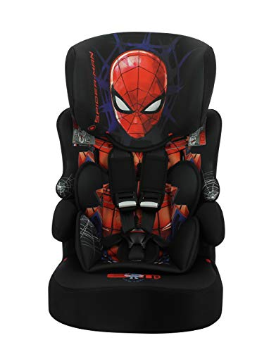 Silla de coche Spiderman grupo 1/2/3 - (9-36 kg) con protección lateral fabricada en Francia