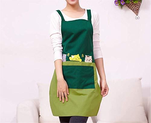 YXDZ Grembiule Carino Adulto Principessa Vita Cucina A Casa A Prova di Olio Grembiule Personalizzato Verde Scuro