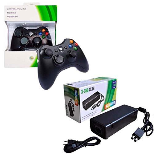 Fonte Xbox 360 Slim Feir + Controle Xbox 360 S/ Fio Feir