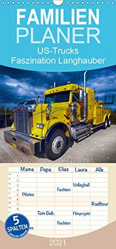 US-Trucks. Faszination Langhauber - Familienplaner hoch (Wandkalender 2021 , 21 cm x 45 cm, hoch): Die faszinierenden LKW-Giganten der US-Highways (Monatskalender, 14 Seiten ) (CALVENDO Technologie)