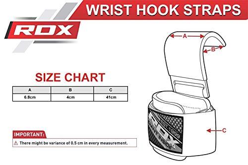 RDX Zughilfen Klimmzughaken Gewichtheben Krafttraining Lastzughilfe Handgelenkstutze - 6