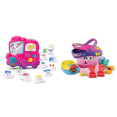 LeapFrog Fridge Phonics Magnetic Letter Set, Pink & Shapes and Sharing Picnic Basket (Frustration Free Packaging), Pink, Great Gift for Kids, Toddlers, Toy for Boys and Girls, Ages Infant, 1, 2, 3