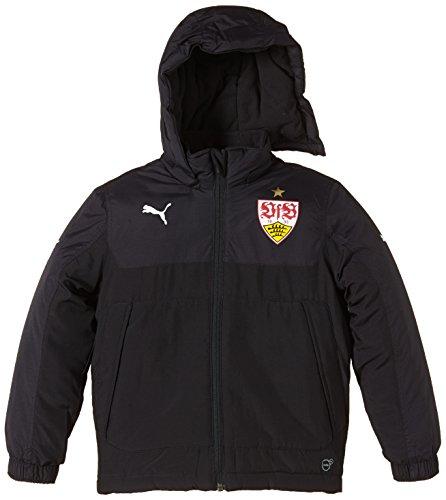 PUMA Kinder Jacke VFB Stuttgart Bench Jacket, Black, 140, 746054 02