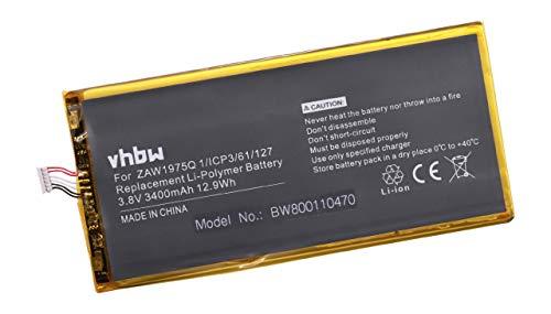 vhbw Li-Polymer batería 3400mAh (3.8V) para Netbook Pad Tab Tablet Acer Iconia A1-713, A1-713HD, Tab 7 por ZAW1975Q, Aprilia.