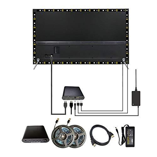 WESIRI Ambient TV Kit for 60-75 inch HDMI Devices Dream Screen 4K HDTV Computer Backlight Background Lighting USB WS2812B LED Strip Full Set