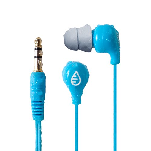 Waterfi Waterproof Headphones with Short Cord for Swimming, Surfing, and Running