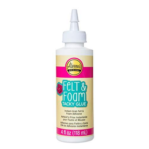 Aleene's Felt and Foam Tacky Glue, 4 FL OZ, Original Version