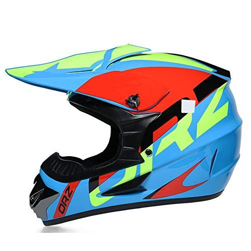GENGJ Casco de Motocross, Casco Casco de Motocicleta para Bicicleta de Montaña,...