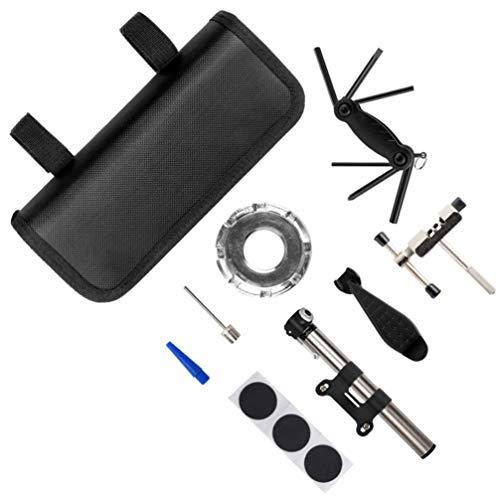 BESPORTBLE 1 Juego de Kit de Reparación de Bicicletas Mini Bomba de Bicicleta de Mano Bomba de Aire Inflador de Neumáticos para Carretera Montaña BMX Bicicletas Kit de Emergencia