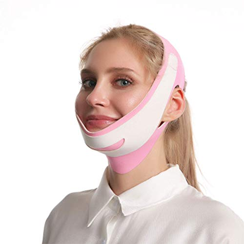 N/ A Visage Minceur Joue Masque Visage Minceur Ceinture pour Femmes Ceinture Respirant Menton Lift Up Anti Rides Sommeil Adapté À Un Usage Domestique Peut Être Utilisé dans Le Bain