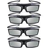 Calvas Lot of 4 Hot for Samsung 4K HD UHD SUHD 3D Active TV Glasses SSG-5150GB SSG-5100GB