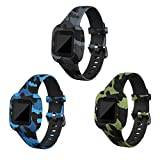 RuenTech Compatible with Garmin Vivofit jr 3 Bands, Replacement Silicone Wristband Camouflage Watch...