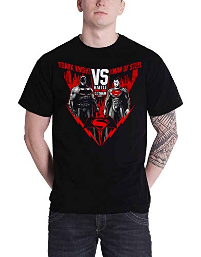 Batman V Superman Battle for Gotham New Official DC Comics Mens Black T Shirt