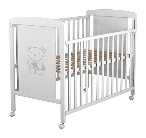 Imagen para Star Ibaby Dreams Sweet - Cuna de bebé 8 posiciones. Lateral abatible. Color blanco.