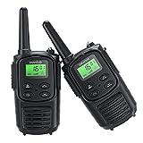 2PC Walkie Talkie für Erwachsene, Handheld PMR 446 Walky Talky Outdoor VOX Funkgeräte Set, 8 Kanäle Two Way Radio mit LED Taschenlampe für Camping, Reisen, Outdoor-Abenteuer, Survival Gear Ausrüstung