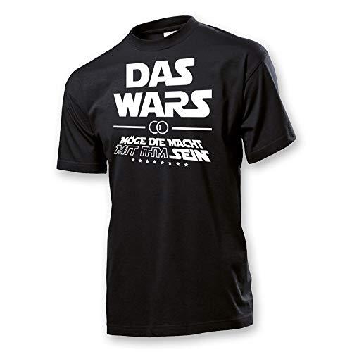 JGA T-Shirt Männer Das Wars - Möge die Macht mit ihm Sein - Junggesellenabschied (Männer/Bräutigam) (Schwarz, XL)