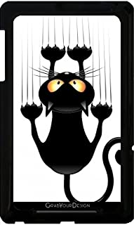 grabyourdesign 卡通 FUN CAT scratching W bluedarkart 手机壳适用于 Google Nexus 7黑色
