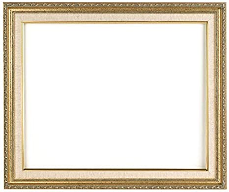 8x10 Frame Gold Narrow Ornate Style with Optional Glass and Custom Cut Matting