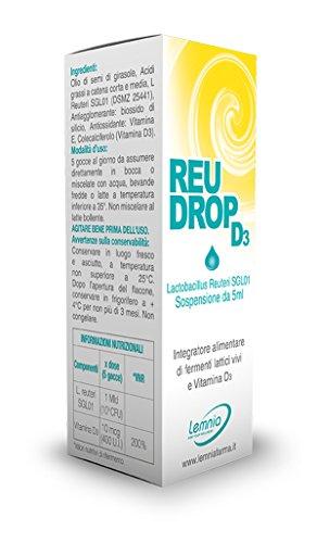 REUDROP D3 Probiotico a Base di Lactobacillus Reuteri e Vitamina D3