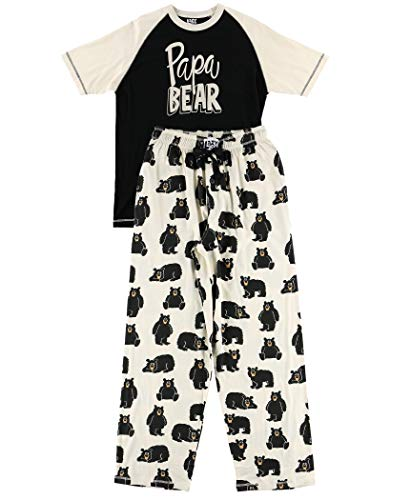 Lazy One Matching Family Pajama Sets for Adults, Kids, and The Dog (Papa Bear, Medium)