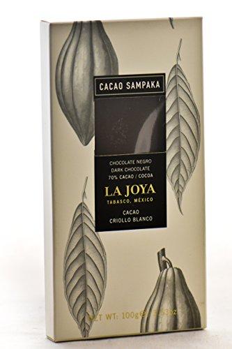 Cacao Sampaka - Tableta de Chocolate Negro 70% La Joya Tabasco, México (Monovarietal con Cacao Criollo Blanco) - 1 x 100gr