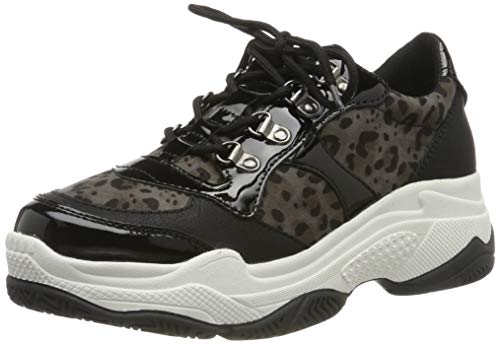s.Oliver Damen 5-5-23646-33 Sneaker, Schwarz (Blk Leo Comb 096), 41 EU