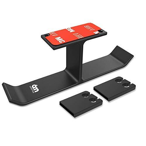 6amLifestyle Nuovo Supporto Cuffie da Tavolo in Alluminio Adesivo, Stand Cuffie con 2 Clip in Silicone per avvolgere il Cavo, Perfetto per l