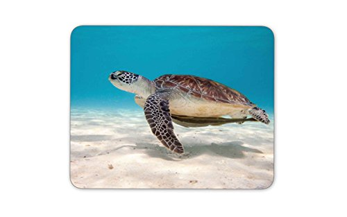 タートルは海で泳ぐのマウスパッドー滑り止め加工処理 防水材質 疲労軽減 マウスパット