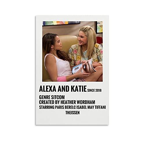 HAPPOW Póster de película de Alexa y Katie vintage de los años 90, póster estético de la sala de estar, 60 x 90 cm