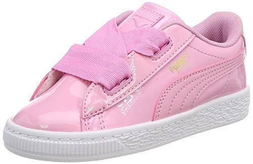 PUMA Basket Heart Patent Inf, Scarpe da Ginnastica Basse Bimba, Rosa (Prism Pink-Prism Pink 03), 26 EU