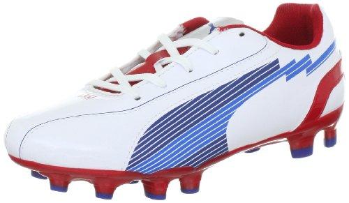 PUMA Evospeed 5 FG Jr 102595, Scarpe da Calcio Unisex Bambino, Bianco (Weiss (White-Limoges-Ribbon Red 01)), 37