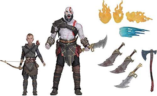 NECA- God of War Pack 2 Figuras Kratos & Atreus, Multicolor (NECA49326)