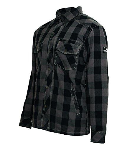 Bores Lumberjack Jacken-Hemd, Reißfest, Wasserabweisend, Grau-Schwarz Kariert, Größe XL